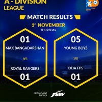 FD - A Division League - 1 Nov_ Match Results